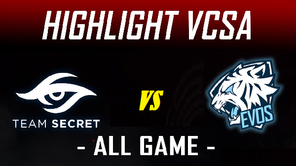 Team secret vs EVS Esport result week 6 day 2