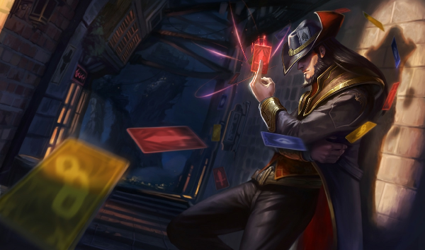 Twisted Fate is one of the favorite champions of Faker